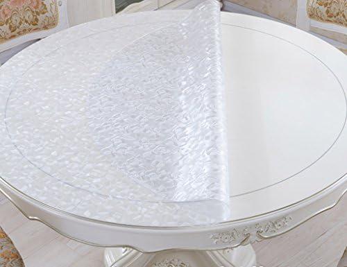 Tovaglia circolare vetro di cristallo morbido in vetro circolare Tovaglia trasparente smerigliata in PVC. Tovaglia impermeabile anti-caldo ( Coloreee   Thickness -2mm , dimensioni   Diameter 110 cm ) 202e8d