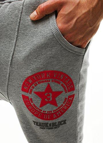 ozonee Pantaloni Uomo Pantaloni Tuta Pantaloni sport jogging STEGOL 810 Grigio