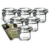 gouveo 6er Set Bügelgläser 250 ml incl. 28-seitige Flaschendiscount-Rezeptbroschüre Marmeladengläser mit Bügelverschluss