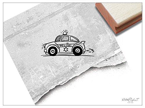 Stempel - Kinderstempel Polizei-Auto Funkwagen Klein - Bildstempel Geschenk für Kinder - Schule Kita Einschulung Basteln Deko - von zAcheR-fineT