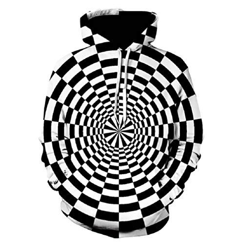 Hypnosis Vortex Hoodies Sweatshirt Herren Damen 3D Whirlpool Print Lustiger Hip Hop Trainingsanzug XXXL