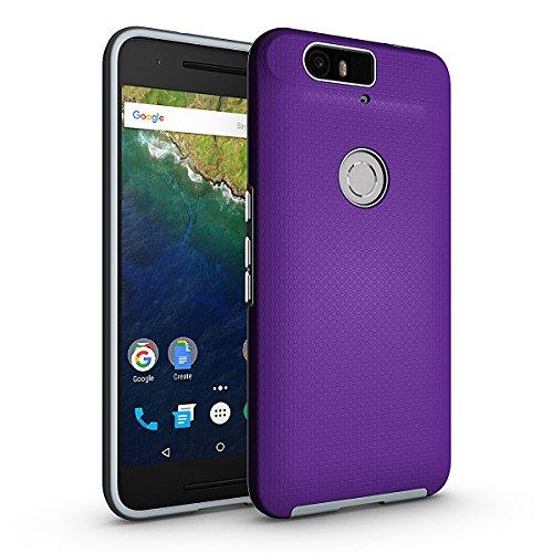 Coque Google Nexus 6P Violet,Coque Nexus 6P [avec un Stylo Tactile],Slynmax Luxe Mode Housse TPU Slim Bumper Souple Silicone Etui Housse de Protection Flexible Soft Case Cas Couverture Anti Choc Ultra Mince Légère Coque pour Google Nexus 6P