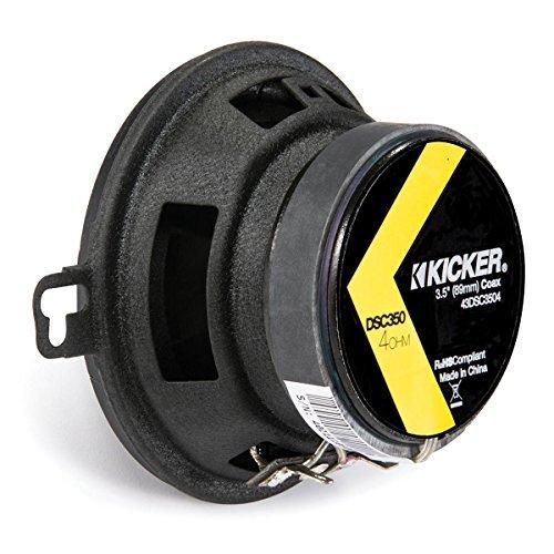 KICKER 43DSC3504 8,7 cm Koax-LS Schwarz -