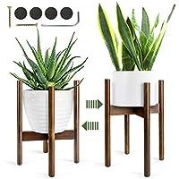 Plant Stand 1Pcs, Mid Century legno fioriera Holder Fioriera Scaffale Stand di Piante per Interni/Esterni (Vaso Non Incluso)