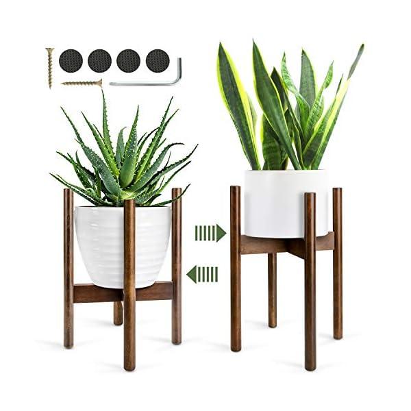 Soporte para Plantas, Soporte para Macetas Estantería de Flores de Madera de Mediados de Siglo, para Interiores y…