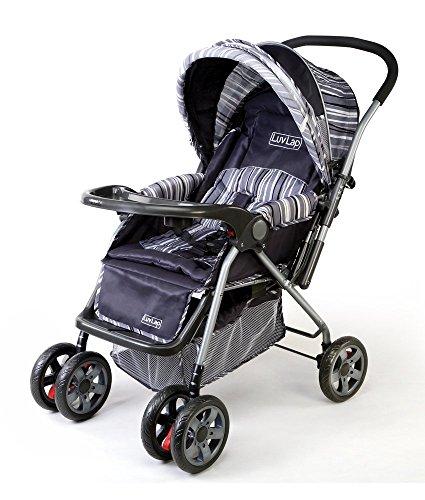 LuvLap 18106/LL1002B  Baby Stroller Comfy (Deep Grey)