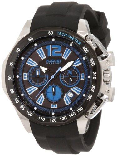 August Steiner uomo GMT-Orologio cronografo da uomo in acciaio INOX