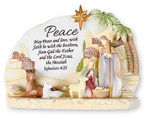 Moderne de Noël Motif crèche de la Nativité Résine Plaque encore les décorations de Noël.