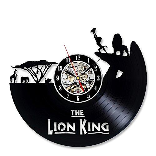 Lion King Vinyl Record Cool Black Orologio da parete regalo