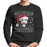 Shout Merry Fookin Christmas Conor McGregor Knit Men's Sweatshirt