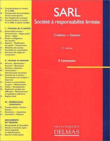 Socit  responsabilit limite : SARL, 21e dition