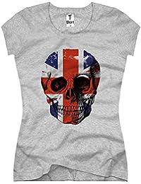 TEE-Shirt Women's T-Shirt Flag Skull Union Jack Design