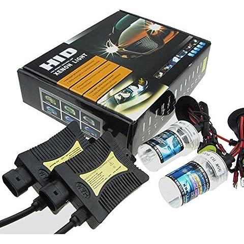 55W HID Luz de Bi-Xenon Headlight Lámpara Kit de Conversión, H4-4300k Bombilla de Repuesto