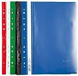 20 PVC Schnellhefter / extra stark / gelocht / 4x rot,weiß,grün,schwarz,blau