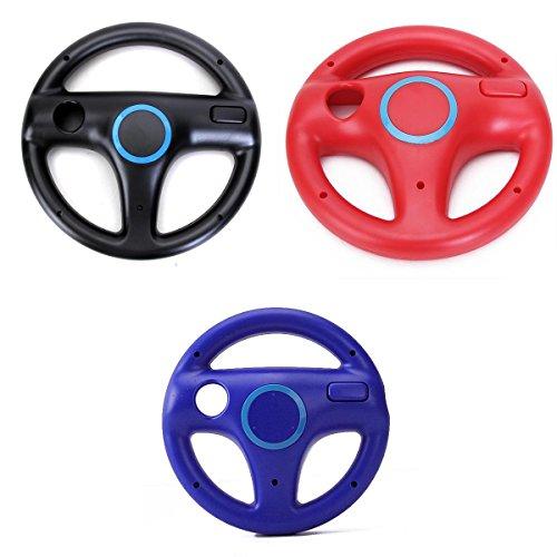 Mario Kart Volante Da Corsa Per Telecomando Nintendo Wii Plus Controller - Nero + Rosso + Blu