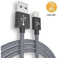Cavo Lightning di Nylon ABAOLUX Cavo Lightning a USB - GARANZIA A VITA - Cavetto iPhone Trasmissione Dati e Ricarica per Apple iPhone 8/ 8 Plus/7 /7 Plus /6 /6 Plus /6s /6s Plus /5s /5c /5 /SE, iPad
