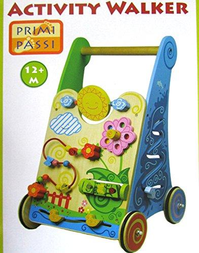 Primi Passi Lauflernwagen aus Holz mit gummierten Rädern