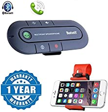 captcha Plastic and Metal Wireless Hands-free Bluetooth Sun Visor in-Car Speaker with Retractable Silicone Steering Mobile Socket Stand Holder for Smartphones