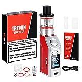 Vaper Triton 5OW KIT Mod Cigarrillo Electronico, 1500mAh Recargable Bateria Cigarros Electronicos Vaper Con La Función VW/TC, Atomizador 0.5ohm / 2ml, Pantalla OLED Monitor Sin Nicotina (Rosa)
