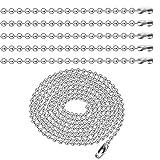 bronagrand 10piezas 2,4mm cadena de bolas collares de cuentas níquel tire cadena con conector, 40pulgadas
