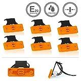 LED-MARTIN® 6er Sparset SU3 Umrissleuchte - inkl. Halter - gelb/orange - zugelassen für den Straßenverkehr (E-Zeichen eingeprägt) - Begrenzungsleuchte - Positionsleuchte - LKW - Auflieger