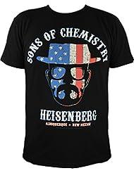 T-shirt breaking bad heisenberg :  sons of chemistry (noir)