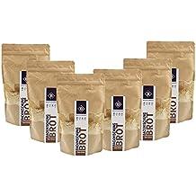 BodyChange Brotbackmischung 6er Pack - glutenfrei, natürlich, paleo, ohne Weizen, zuckerarm - Hell ohne Körner