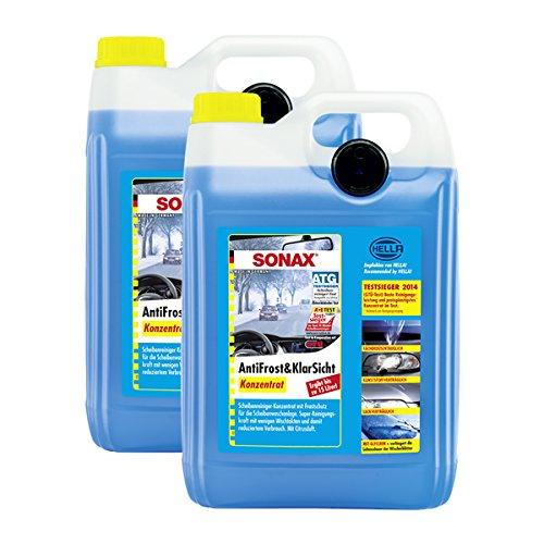 SONAX 2X 03325050 AntiFrost&KlarSicht Konzentrat Frostschutz Waschanlage 5L