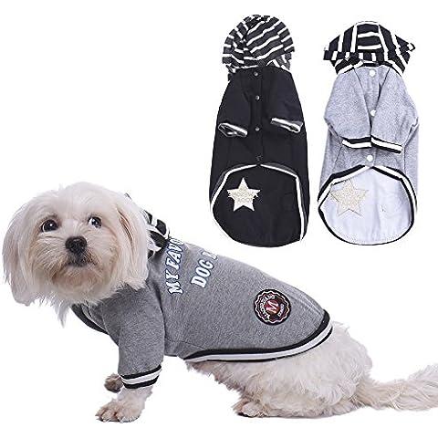 WIDEN Nero / vestiti grigi invernali per cane Abbigliamento Cat Coats Jacket