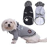 WIDEN ELECTRIC Schwarz / graue Hunde winter Bekleidung für Hundekleid Cat Mäntel Jacke