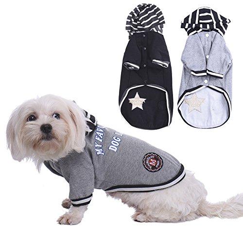 Preisvergleich Produktbild WIDEN ELECTRIC Schwarz / graue Hunde winter Bekleidung für Hundekleid Cat Mäntel Jacke
