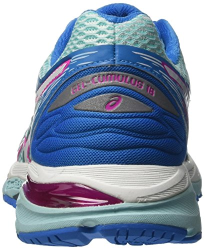 Asics T6c8n6701, Chaussures de Running Entrainement Femme Bleu (Aqua Splash/White/Pink Glow)
