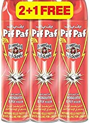 Pif Paf Mosquito & Fly Insect Killer, 3 x 400 ml (Pack o
