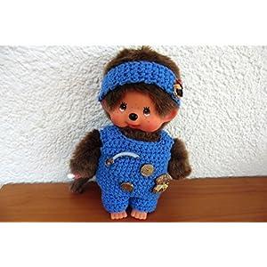 3 er Set Pirat Kleidung für Monchichi 20 cm Hose,Oberteil und Stirnband Handarbeit