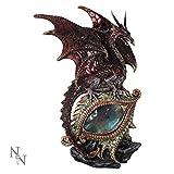 Nemesis Now–Figura decorativa de ojos rojos del dragón–Figura decorativa de 21cm–u2052F6–New