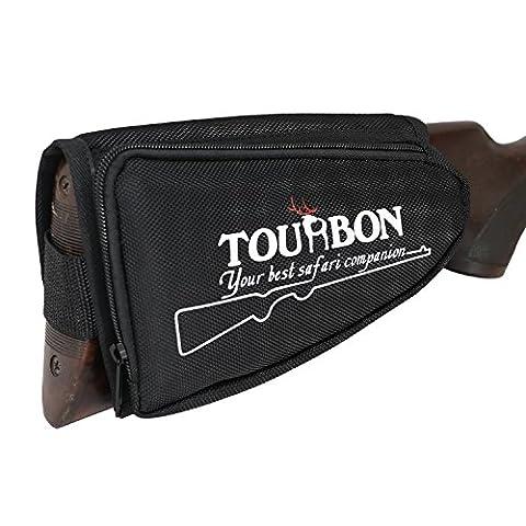 Tourbon Chasse Tir Accessoires Shotgun Cheek Rest Buttstock Coque support (Noir, droite pratique)
