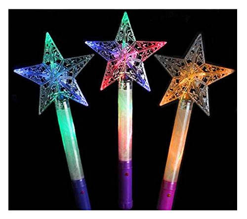 ks, für Party Supplies, Festivals, Stars [zufällige Farbe] (Bulk-glühen-stock)