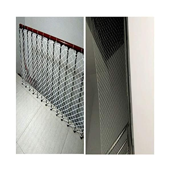 Nylon rope net, children's balcony stair safety net kindergarten decoration net isolation net playground obstacle net, railing net diameter 6mm10cm (Size : 10 * 10M(33 * 33ft))  ◆ Safety net wire diameter 6MM, mesh spacing 10CM.Color: white rope net.Our protective mesh can be customized according to your needs. ◆Protective net material: Made of nylon braided rope, hand-woven, tightened.Exquisite workmanship, solid and stable, can withstand 300kg weight impact. ◆Features of decorative net: soft material, light mesh, multi-layer warp and weft, fine wiring, fine workmanship; clear lines, non-slip durable, anti-wear. 4
