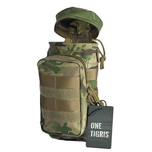 OneTigris Outdoor MOLLE Trinkflasche Halter Carrier Flaschenbeutel mit Reißverschluss (MC-1000D Nylon)
