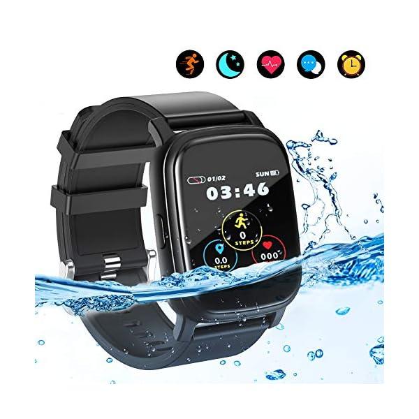 BYTTRON Smart Watch Fitness Tracker, Bluetooth Smartwatch IP68 a Prueba de Agua con Monitor de sueño de frecuencia… 1