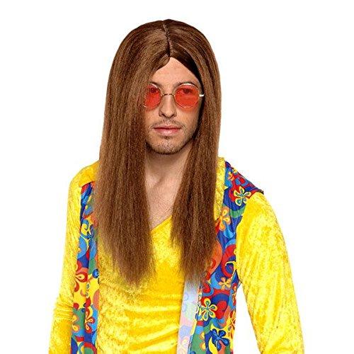 Generique - Perruque Hippie Marron Adulte