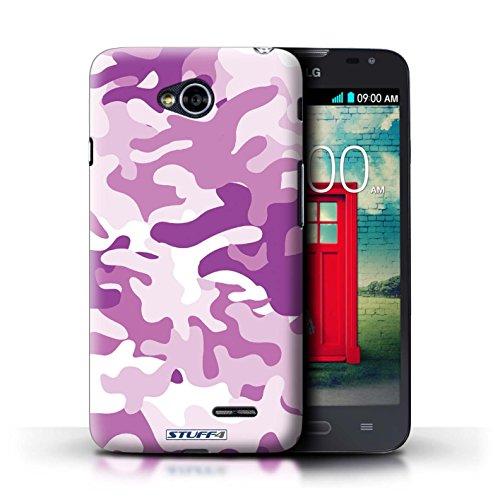 Kobalt® Imprimé Etui / Coque pour LG L70/D320 / Rose 4 conception / Série Armée/Camouflage Rose 1