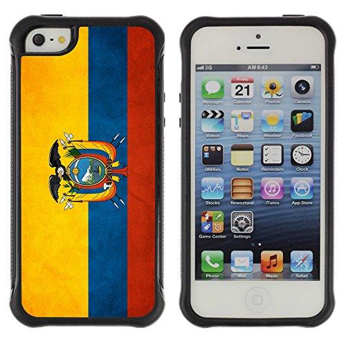 Graphic4You Vintage Uralt Flagge Von Dominikanische Republik Design Harte Hülle Case Tasche Schutzhülle für Apple iPhone 5 und 5S Drapeau Équatorien Équateur