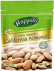 HappiloPremium100% Natural Californian Almonds, 200g (Pack of 5)