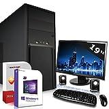 Komplett PC Set Office / Multimedia inkl. Windows 10 Pro 64-Bit! - Dual-Core Intel Celeron J1800 2x 2,6GHz Turbo - Intel HD Graphics - 19 Zoll TFT Monitor - 4GB DDR3 RAM - 500GB HDD - 24-fach DVD Brenner - Lautsprecher - Tastatur + Maus - USB 3.0 - Computer mit 3 Jahren Garantie!
