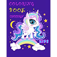 Unicorn coloring book kids: Magical Unicorn for Girls happy and smiling