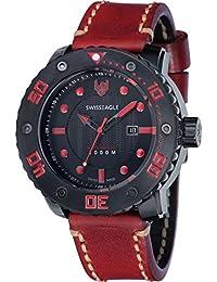 Swiss Eagle Reloj de cuarzo Abyss Rojo 54 mm