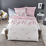 Dormisette Feinbiber Bettwäsche Federn weiß 135x200 cm + 80x80 cm