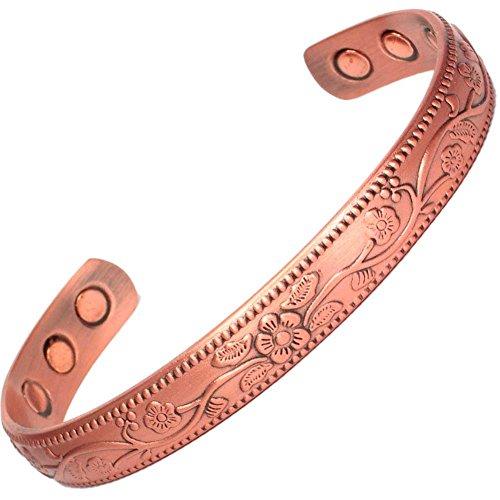 MPS Kupfer magnetische Armband, Armreif Stil, mit 6 starken Magneten, mit gratis geschenk geldbörse