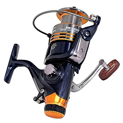 BNTTEAM 11BB Front and Rear Brake System One Way Clutch Size 1000-7000 Full Metal Spool Spinning P66 Fishing Reel Carp Fishing Wheel Spinning Reel Pesca (5000 Series)